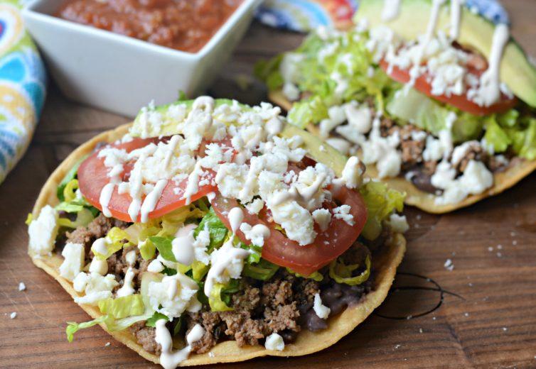Tostadas mexican food
