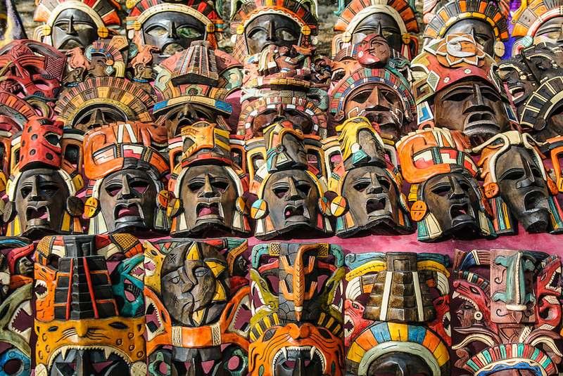ماسک مایایی سوغاتی مکزیک