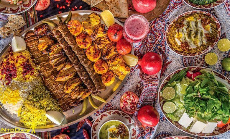غذا های محلی در یک قاب